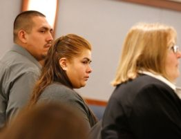 Martine during bail hearing in Las Vegas court